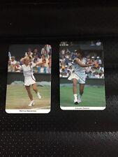 Fax-Pax tarjetas Martina Navratilova + Gabriela Sabatini tenis Wimbledon