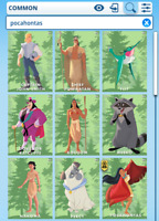 Topps Disney Collect - Pocahontas Characters forest set + award DIGITAL