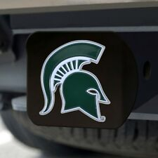Michigan State Spartans Heavy Duty 3-D Color Emblem Black Metal Hitch Cover