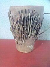 ANCIEN ART AFRICAIN PERCUSSION DJEMBE 1930-1950  objet en bois cuir