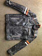 Cafe Racer Men's Biker Retro 2 Vintage Motorcycle Distressed Real Leather Jacket