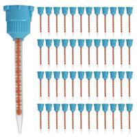 50Pcs Silicone Rubber Disposable Dental Impression Mixing Tips Blue Orange 10:1