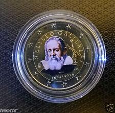 2 Euro 2014 Italia - 450 ANNI di GALILEO GALILEI colorato - in capsula