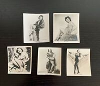 Lot of 5 1930s Carreras Cigarettes Film and Stage Beauties Cards w/ Black Cat
