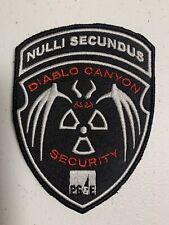 Diablo Canyon Nuclear Power Plant Security Patch PG&E