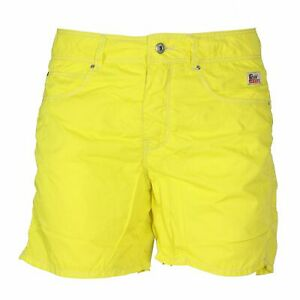 Roy Roger's Pantaloncino Mare Uomo Beach Nylon Washed Giallo