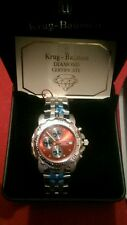 NEW RRP £299 Krug Baumen 241269DM-R Mens Sportsmaster Red Diamond Chronograph W