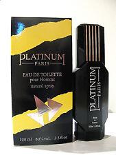 VINTAGE PROFUMO UOMO PLATINUM PARFUMES EAU DE TOILETTE POUR HOMME 100ML SPRAY