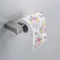 FsEub Durable Wall Mount Stainless Steel Paper Holder Toilet Tissue Shelf Chrome