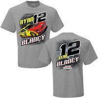 Schwarz//Gelb Karierte Flagge Sports Ryan Blaney #12 Menards Sponsor Mesh NASCAR Trucker Hut