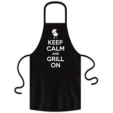 Fabtee Keep Calm and Grill on Koch et barbecue tablier BBQ Griller une saucisse steak