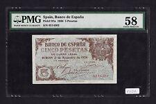 F.C. 5 PESETAS 1936 , SIN SERIE , EBC+ .