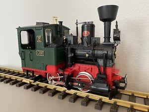 LGB 2010 D :: Vintage Dark Green STAINZ Steam Locomotive w/ Lights G-Scale