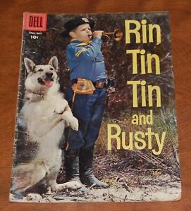 Rin Tin Tin & Rusty  #18 Western First appearance of Rusty Calvary 1957 VG-/VG