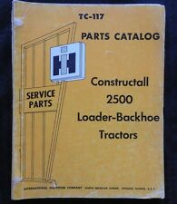 GENUINE 1966 INTERNATIONAL 2500 CONSTRUCTALL BACKHOE LOADER TRACTOR PARTS MANUAL
