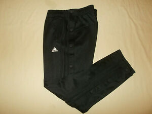 ADIDAS BLACK TEAR AWAY ATHLETIC PANTS WOMENS LARGE EXCELLENT CONDITION