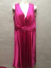 Vestido de cóctel de seda por Suzi Chin For Maggy Boutique-Fucsia Rosa, talla 14 US