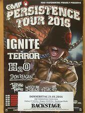 PERSISTENCE-IGNITE-TERROR 2016  - orig.Concert Poster - Konzert Plakat  A1 NEU
