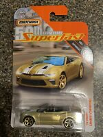 2019 Matchbox 50th Anniversary Superfast Gold '16 Chevy Camaro Convertible