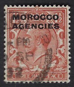 MOROCCO AGENCIES:1931  GV block Cypher 1 1/2d chestnut  SG56 used