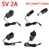 AC to DC 3.5mm*1.35mm 12V 1A 5V 2A Power Supply Adapter Converter Charger