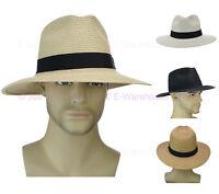 Gangster Michael Jackson Fedora Trilby Panama Style Braided Wide Brim Sun Hat