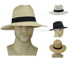 Gangster Michael Jackson Fedora Trilby Panama Style Braided Wide Brim Sun Hat