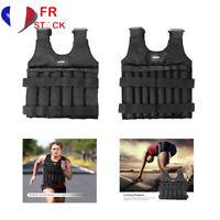 FR Weighted Vest Pondéré Réglable Gilets lesté Veste Oxford 20/50kg Poids Sport