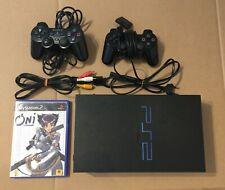 Sony PLAYSTATION 2 Konsole PS2 Fat Boy PS Ur-Version SCPH-30004 PAL Schwarz Two