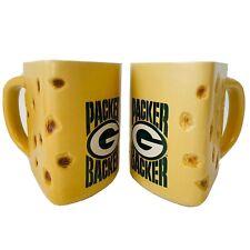 "Nfl Green Bay Packers Yellow Cheese Wedge ""Packer Backer"" Beer Stein Mug"