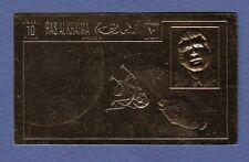 K104-Timbre/Stamp OR/GOLD Neuf**MNH RAS AL KHAIMA /APOLLO XI Non dentelé