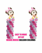 TWO Baby Minnie Mouse BALLOON COLUMN BIRTHDAY PARTY DIY KIT party decorations