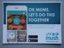 Mush App Ok Mums Let's Do This Together Leaflet Postcard