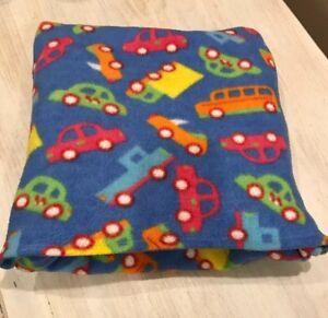 Handmade Fleece Toddler Car Design Folding Travel Blanket Pillow