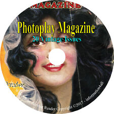 Photoplay Magazine - American Film Magazine - 20 Issues on DVD
