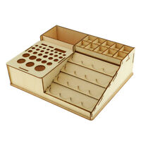 Wooden Paint Bottles Storage Rack Holder Pigment Box Organizer Storage Tools
