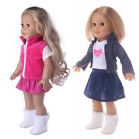 Girl Doll Toy Clothes Dress Suit Set Top Skirt Coat for 18inch Girls Baby Dolls