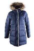 Women's LAUREN RALPH LAUREN Navy Down Quilted Hooded Parka Jacket Coat Size M