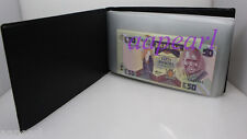 New Paper Money Album Holders World Banknotes Collection Album 20Pages 40pockets