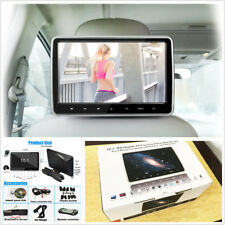 10.1'' Digital HD TFT LCD Screen Car Headrest Monitor DVD Player Kit USB/HDMI/FM