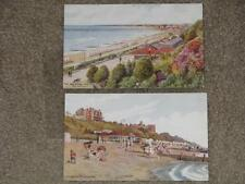 The Beach & The Bay & Spa Gardens by Felixstowe, unused vintage cards