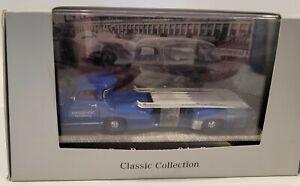 Mercedes-Benz 1:43 Transporter (Blue Wonder) and W196 Monoposto Race Car