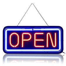 Rectangular Real Glass Bright Neon Open Sign / Light - Not Led Open Signs -