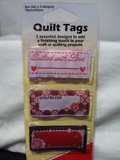 SEW EASY - Quilt Tags  | 70mm x 25mm | 3pc x 3 designs