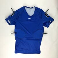 New Nike Padded Football Dri-Fit Training Shirt Men's Large Royal Blue #24
