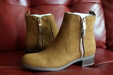 """Tommy Hilfiger """"Patron 2"""" Chelsea Suede Booties Women Boots Brown 7.5"""