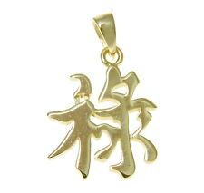 baádo en oro amarillo PLATA 925 Brillante CARACTERES CHINOS Riqueza