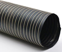 4M Black Neoprene Ducting / V2 High Temperature Flexible Air Feed -50 to +150°C