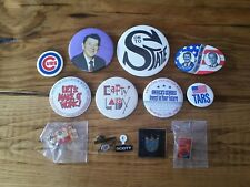 Vintage Pins Buttons 80s 90s Lot Political Republican Sports Cubs McDonalds MORE