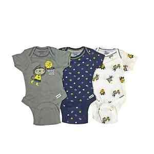 Gerber Baby Boy Onesies Bodysuits 3-Pack Monkey Sports Newborn